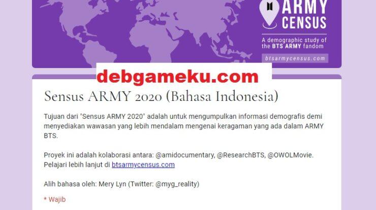 Census Army BTS 2020 Bahasa Indonesia