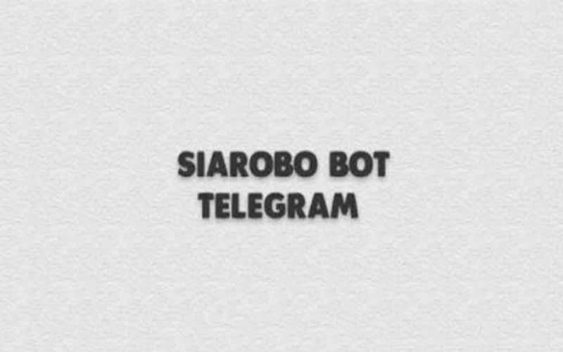 Cara Gunakan Siarobo Bot