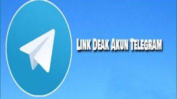Penjelasan Link Deak Akun Telegram Sementara Atau